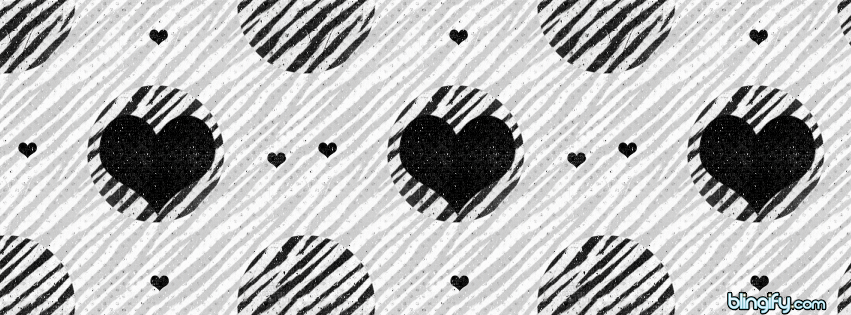 Black And White Hearts facebook cover