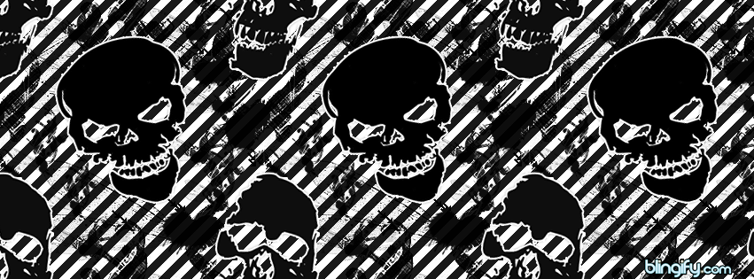 Black And White Skull  facebook cover