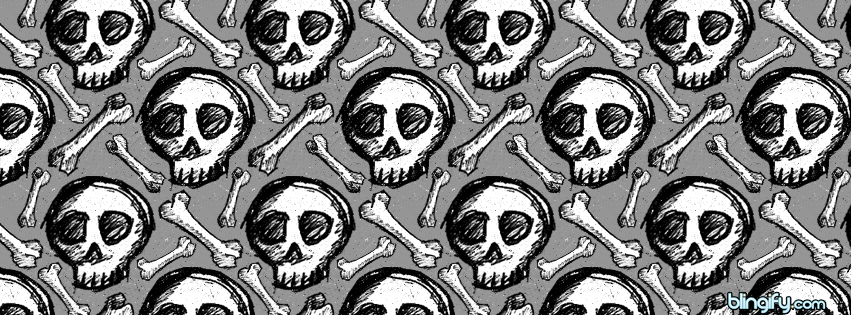 Black And White Skulls facebook cover
