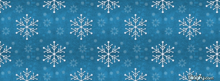 Snowflakes facebook cover
