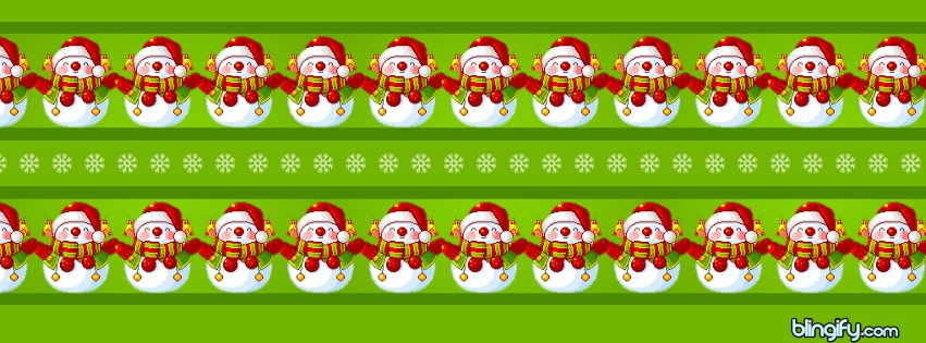 Snowman Stripes facebook cover