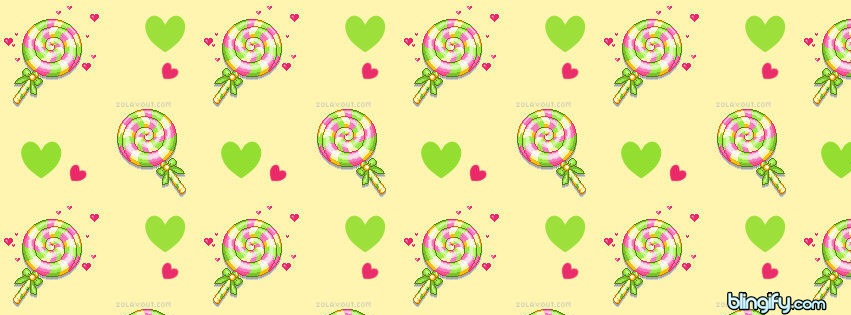 Cute Lollipop facebook cover