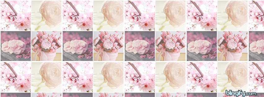Flower Icons facebook cover
