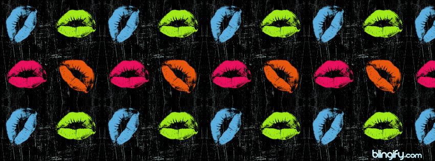 Neon Lips facebook cover