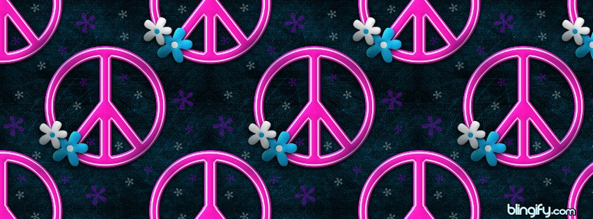 Peace Pink facebook cover