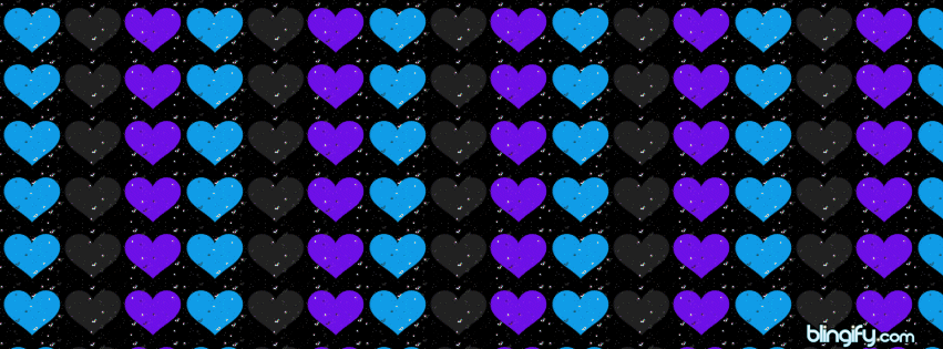 Flashing Hearts facebook cover