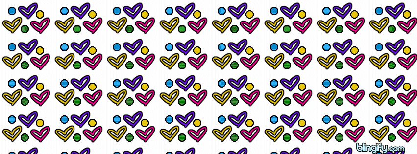 Heart And Polkadots facebook cover