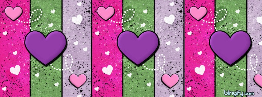 Heart Stripes facebook cover