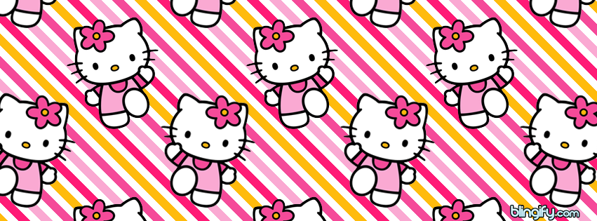Hello Kitty Pink facebook cover