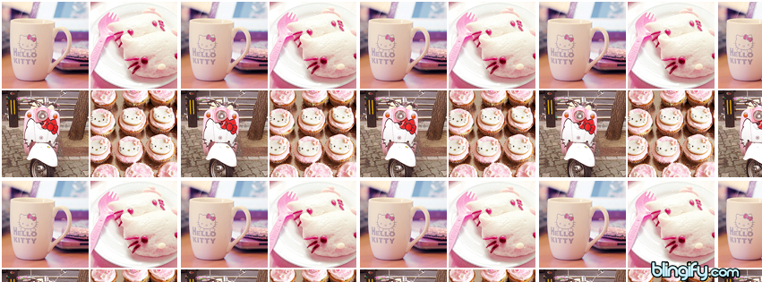 Hello Kitty Icons facebook cover