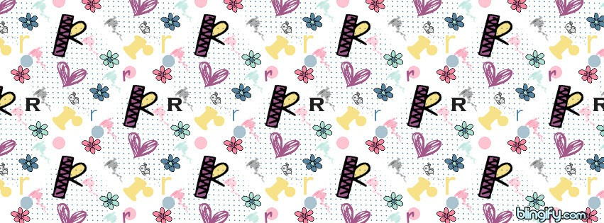 Cute R facebook cover