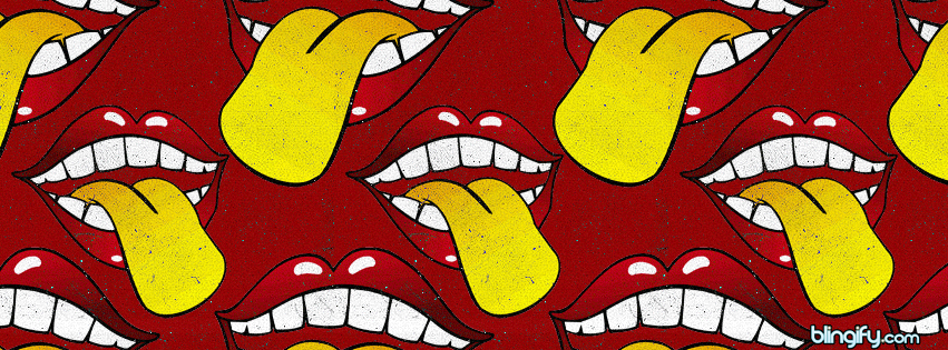 Lip And Tongue facebook cover