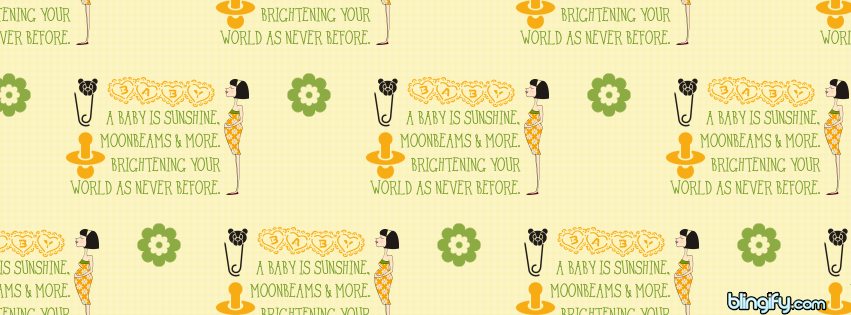 A Baby Is Sunshine facebook cover