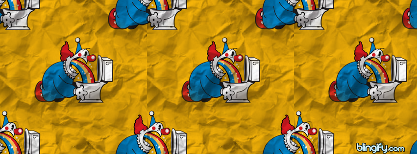 Clown Pukeing  facebook cover
