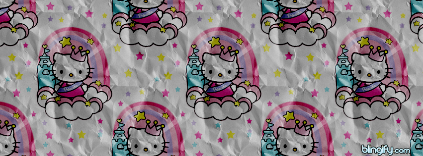 Hello Kitty Paper Stars  facebook cover