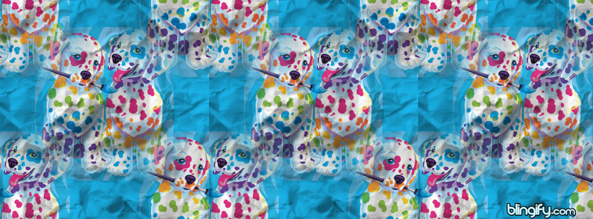 Spotty Dotty Paws Lisa Frank  facebook cover