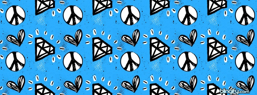 Peace And Love facebook cover