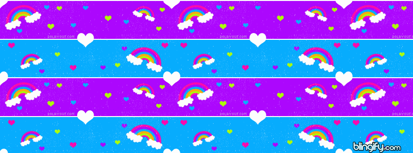 Rainbow  facebook cover