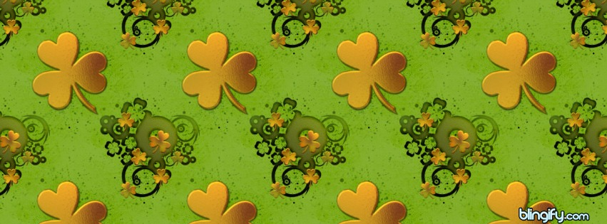 Gold Shamrock facebook cover