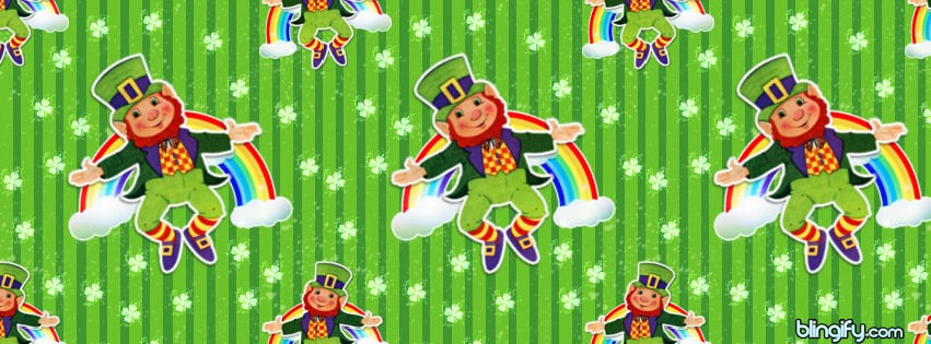 Leprechaun Rainbow facebook cover