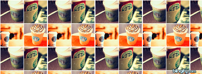 Starbucks Icons facebook cover