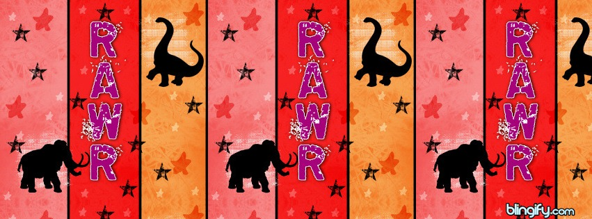 Dinosaur Stripes facebook cover