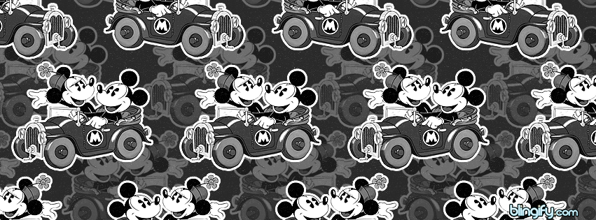 Mickey And Minnie Mouse facebook cover