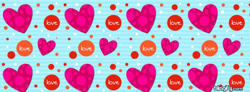 Heart Dots facebook cover