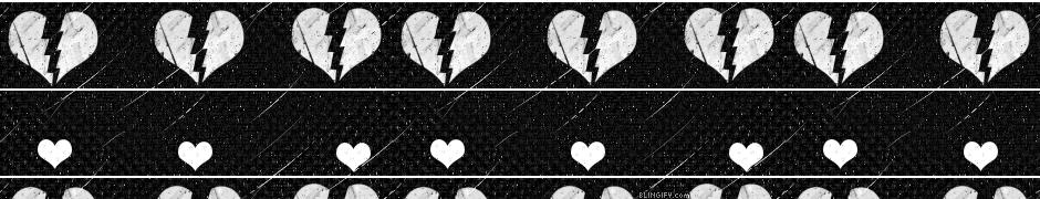 Black And White Broken Hearts google plus cover