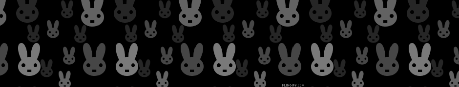 Black And White Rabbits google plus cover