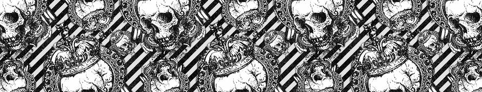 Black And White Skulls  google plus cover