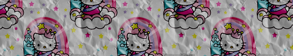 Hello Kitty Paper Stars  google plus cover