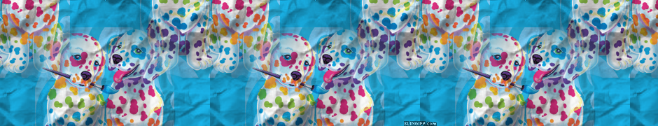 Spotty Dotty Paws Lisa Frank  google plus cover