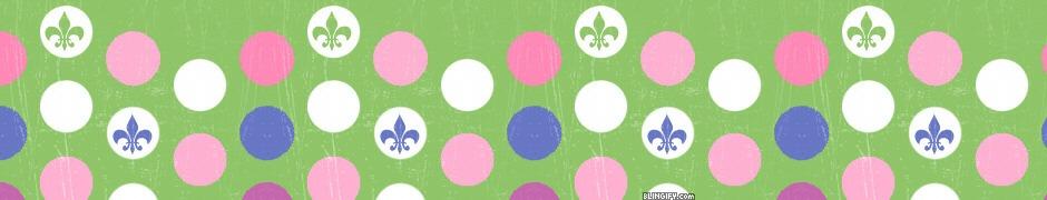 Fluer Di Lis Dots google plus cover