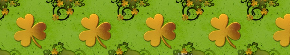 Gold Shamrock google plus cover