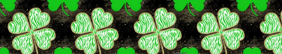 Zebra Print Shamrock google plus cover