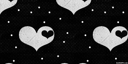 Black And White Hearts google plus cover