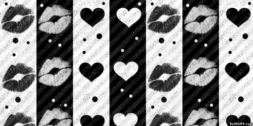 Black And White Love And Kisses google plus cover