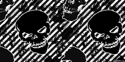 Black And White Skull  google plus cover