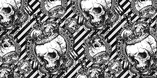 Black And White Skulls  google plus cover