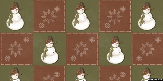 Country Snowman google plus cover
