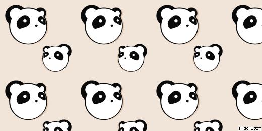 Cute Panda google plus cover