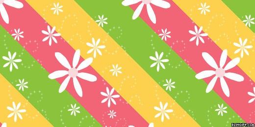 Flower Stripe google plus cover