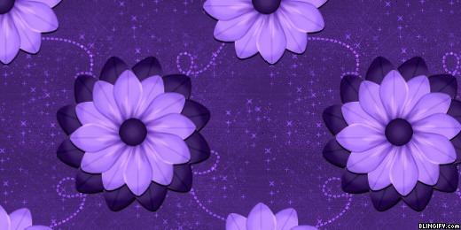 Purple Scrap Flowers google plus cover