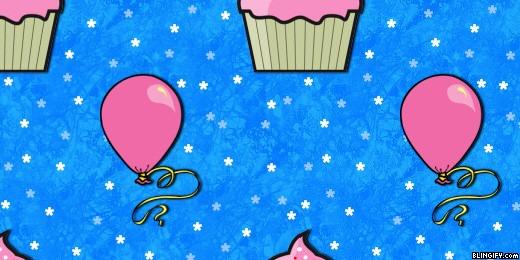 Cupcake Ballons google plus cover