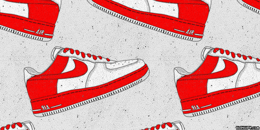 Red Nike Air Force google plus cover