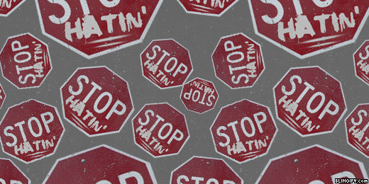 Stop Hatin google plus cover