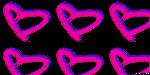 Neon Pink Heart google plus cover