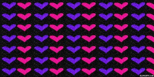 Purple And Pink Hearts google plus cover