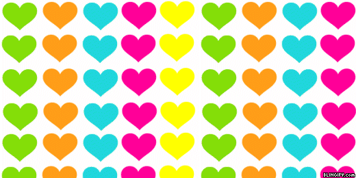 Rainbow Hearts google plus cover